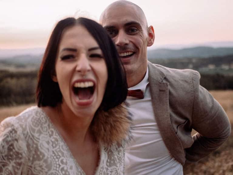 Un couple de marié pris par un vidéaste génissieux.