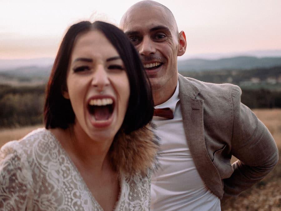 Photo prise lors d'un film de mariage proche de porte les valence dans la drome.