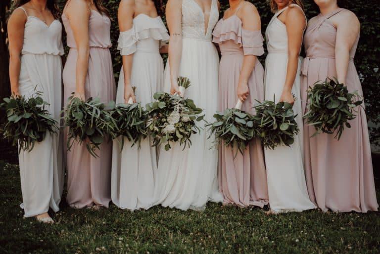 Mariage en rose et blanc : Sérénité et délicatesse